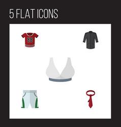 Flat icon clothes set of trunks cloth cravat t vector