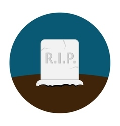 Grave flat icon vector image vector image