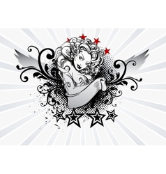 Tattoo Girl vector image vector image