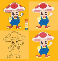uncle mushroom vector image