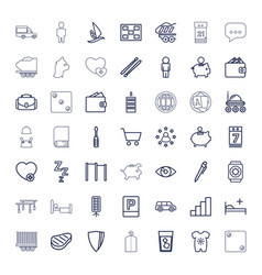 49 pictograph icons vector