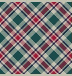 Abstract check plaid diagonal seamless fabric vector
