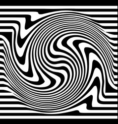 Abstract monochrome with distortion deformation vector