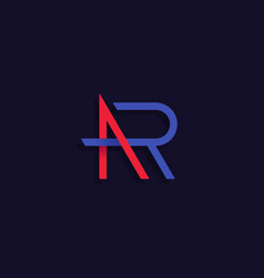 Ar letters logo design vector