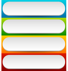 badge button banner set in 4 bright color with vector image