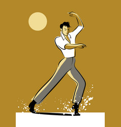 Baile flamenco-02 vector