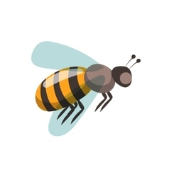 Bee cartoon style vector image