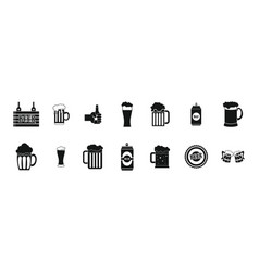beer icon set simple style vector image