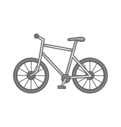 Bicycle icon black monochrome style vector image