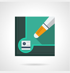 Billiard tools flat square icon vector