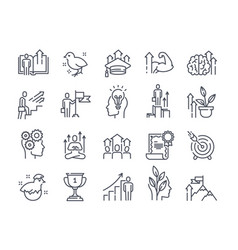 black and white icons set personal vector image