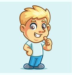 Boy activities 2 mascot design vector