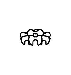 Braces dental orthodontic teeth treatment vector