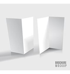 Brochure design isolated on grey vector