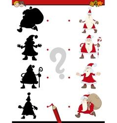 Christmas shadow activity game vector