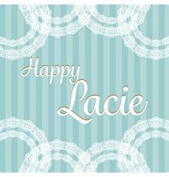 Classic romantic green lace invitation card vector