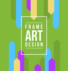 Collection frame art with green background vector