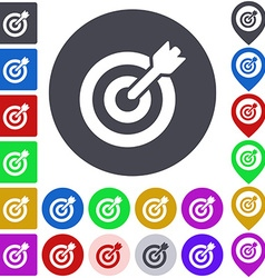 Color target icon set vector