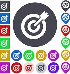 Color target icon set vector