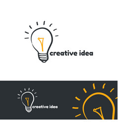 creative idea logo template vector image