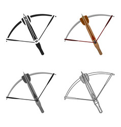Crossbow icon cartoon single weapon icon from the vector