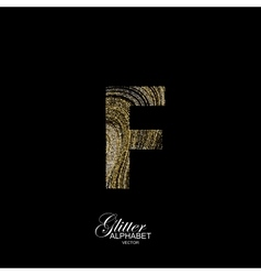 Curly textured Letter F vector