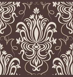 Damask seamless pattern element vector