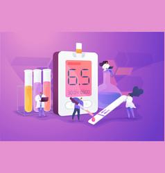 Diabetes mellitus concept vector
