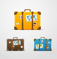 Different travel bags collection vector