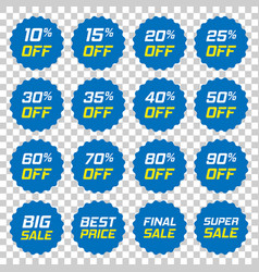 discount stickers icon in flat style sale tag vector image
