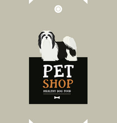 Dog collection havanese dog poster vector