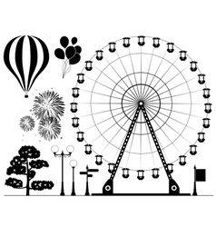 elements amusement park vector image