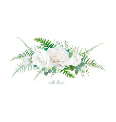 Floral bouquet design garden ivory white creamy vector