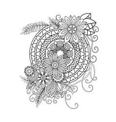 floral mandala pattern vector image
