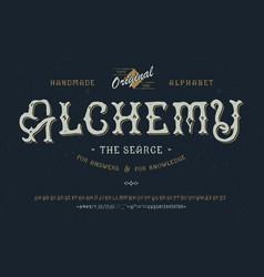 font alchemy craft retro vintage typeface design vector image