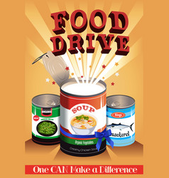 Food drive poster vector