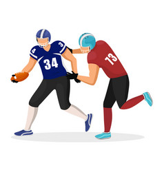 footballers opponents play in american football vector image