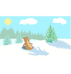 funny marmot scared vector image