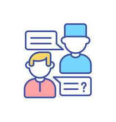 gp doctor consultation with patient rgb color icon vector image