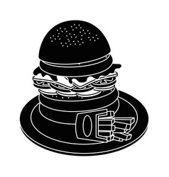 Hamburger fast food vector