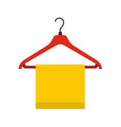 Hanger with cloth icon flat style vector
