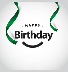Happy birthday to you template design vector