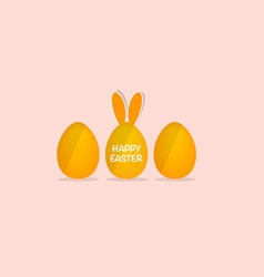 Happy easter card with Easter eggs vector image
