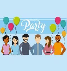 Happy party card vector