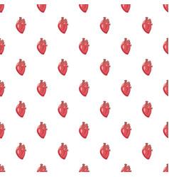 human heart pattern vector image