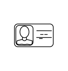 identification card icon vector image