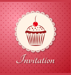 Invitation applique card background vector image