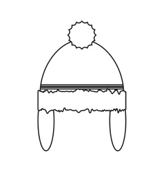Isolated hat of Christmas season design vector