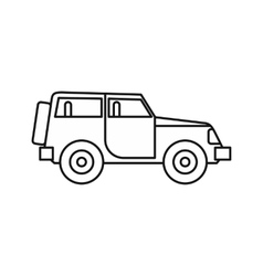 Jeep icon in outline style vector