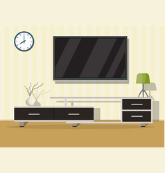 living room interior concept vector image